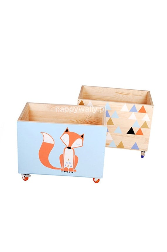 Girls Kids Childrens Wooden Nursery Bedroom Furniture Toy: Set Of Two Boxes. Toy Chest, Nursery Toy Box, Toy Bin, Toy