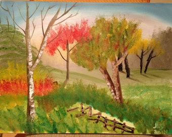 Autumn Trees 18 X 24