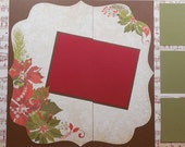 Poinsettias and Music Notes Scrapbook Kit