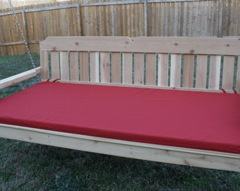 Brand New 5 Foot Victorian Swing Bed with 2 inch thick Seat Cushion with Hanging Rope - Free Shipping