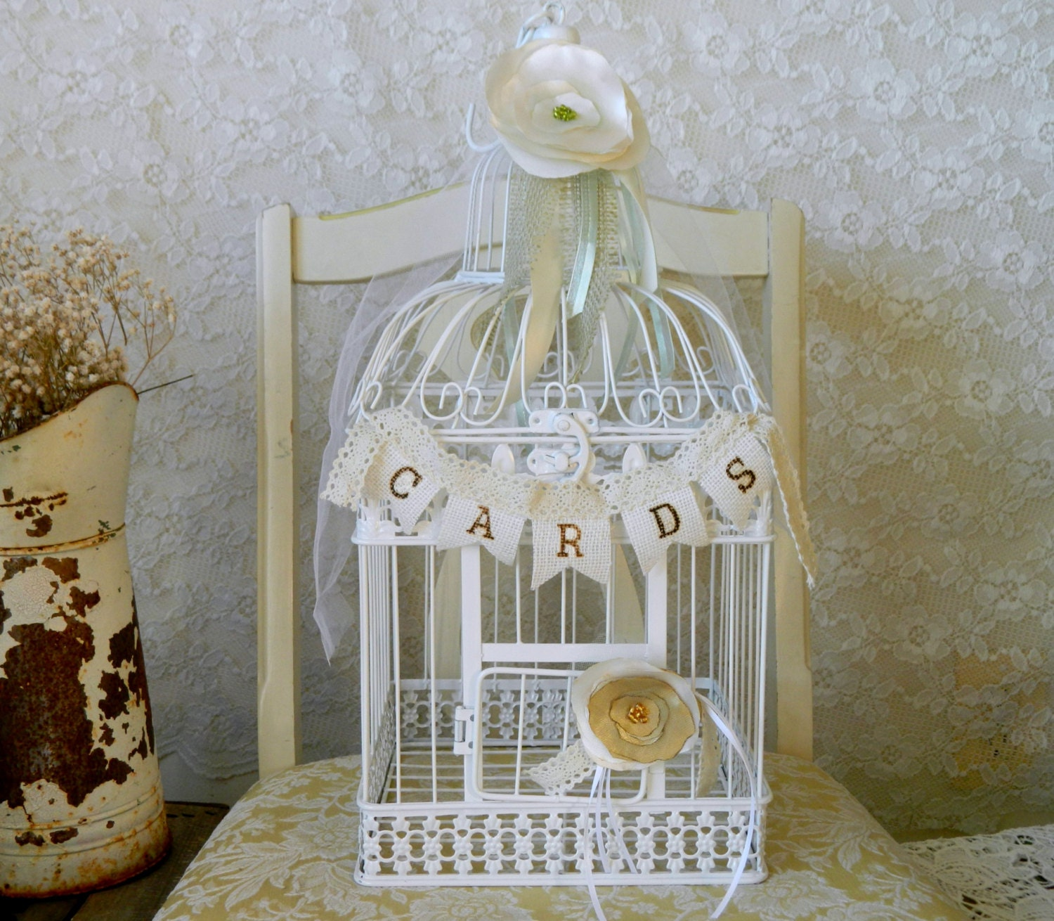 Birdcage For Wedding Gift Cards : wedding card bird cages Wedding Gift Box Romantic Card