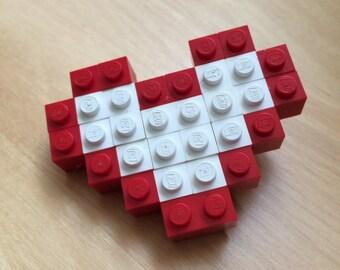 Repurposed Lego blocks pin