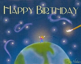 Life Paintbrush Birthday Card