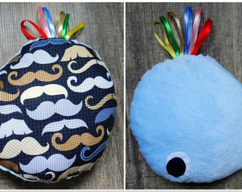 Whale comforter cuddly toy/cushion/taggy - SALE