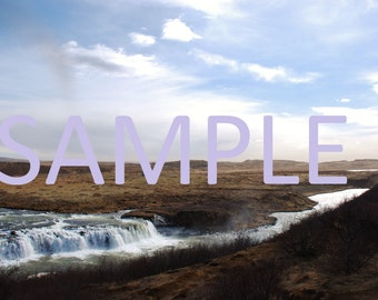 Set of 12 Iceland waterfall photograph stationery note card (with envelope)