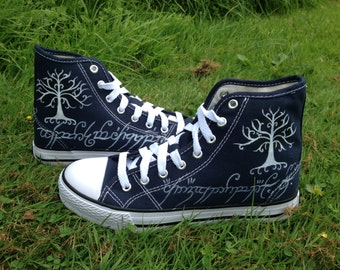 White Tree of Gondor high top shoes