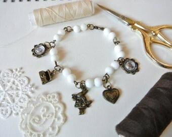 retro vintage old things copper brace lace bracelet women girl lady