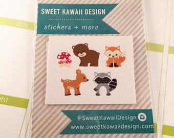 25 Woodland Critter Stickers