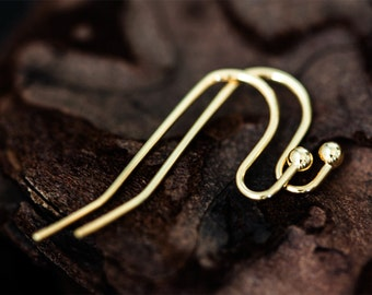 1164_Gold plated earwire,Loop earwire,Ball end french earwire,French earwire,Glossy french earwire,Earwire ball end,French earwires, 5 pairs