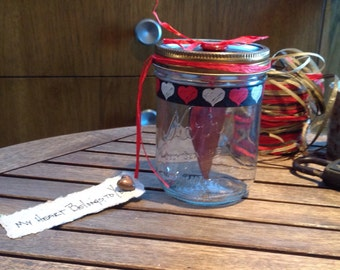 "Valentine's Day Mason Jar ""My Heart Belongs to You"""