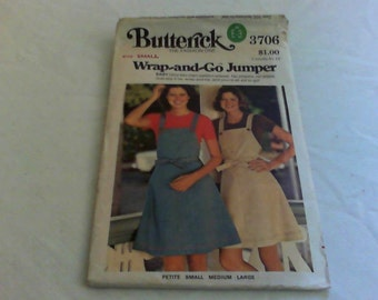 Uncut Butterick 3706 Small Wrap-and-Go Jumper Pattern No Zippers No Snaps