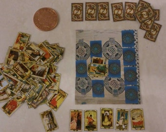Dolls house miniature Tarot Cards 1/12 scale with mat