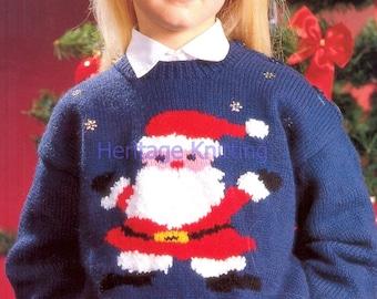 father christmas jumper dk knitting pattern 99p