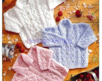 girls  cardigans dk knitting pattern 99p