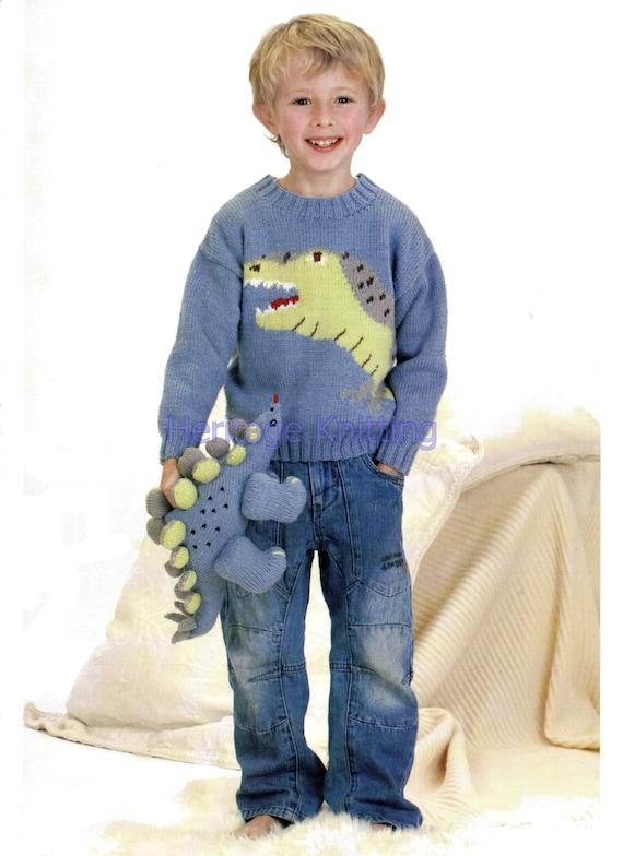 Spiderman Knitting Pattern Free : Boys dino jumper knitting pattern 99p