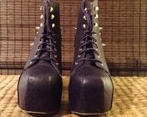 "SALE - Studded purple ""Lita"" shoes, women's size 8"