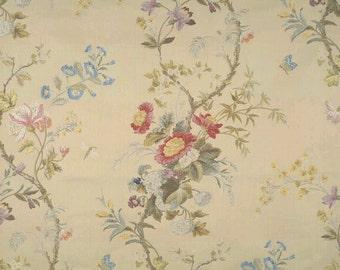 SCALAMANDRE MEISSEN SILK Lampas Damask Fabric 10 Yards Vanille