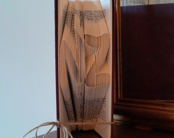 "Folded Book Sculpture - ""NZ"" - Home Decor - Gifts for Book Lovers - Unique Present"