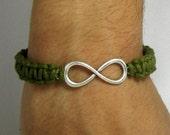 Men's Bracelet, Unisex Bracelet, Macrame Bracelet, Infinity Bracelet