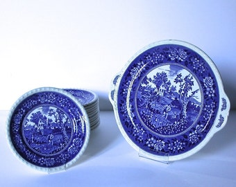 "China set of dishes from ""Rusticana"", France,1950s"