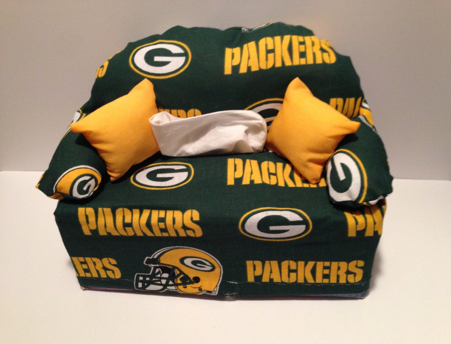 Sofa Tissue Box Cover Green Bay Packers Sports