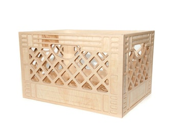 Record Storage // Wooden Milk Crate // Vintage Inspired Milk Crate // Replica Milk Crate