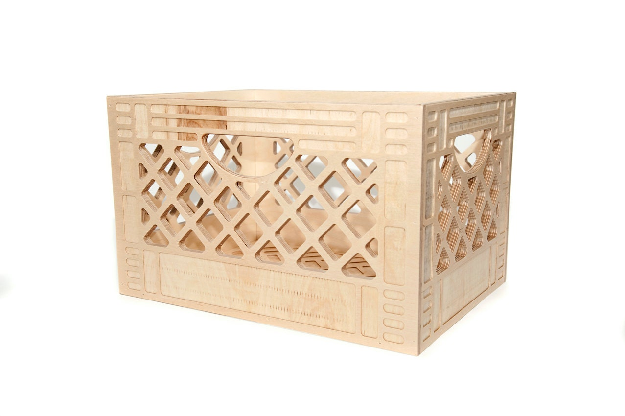 record storage wooden milk crate vintage inspired milk. Black Bedroom Furniture Sets. Home Design Ideas