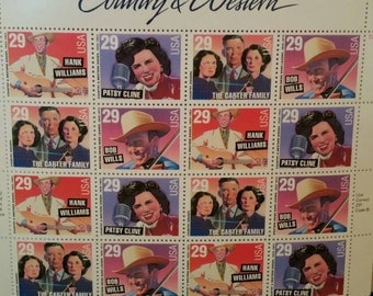 U.S. Postage Stamps County Western Sheet