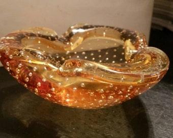 Murano Glass Ashtray Italian Glass