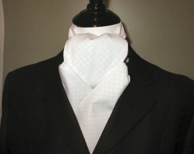 White on White Dot Formal stock tie