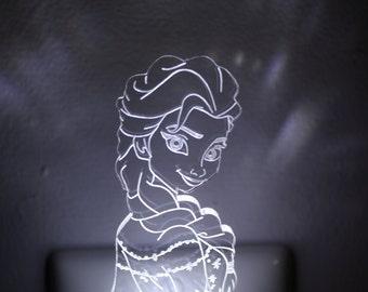 Frozen Inspired Elsa Childrens LED Night Light