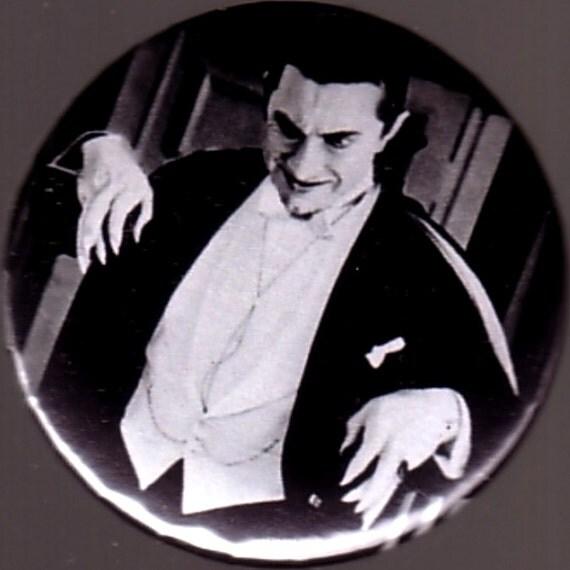 Orlok Magnet >> BELA LUGOSI DRACULA Button Badge Pinback Pin Magnet by BeatGorilla