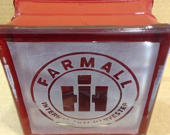 Farmall IH glass block