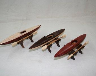 Kayak wood toys