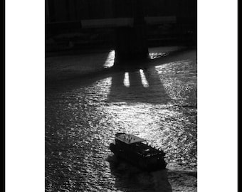 Brooklyn Bridge Shadows, New York City, Black and White, Fine Art Photography
