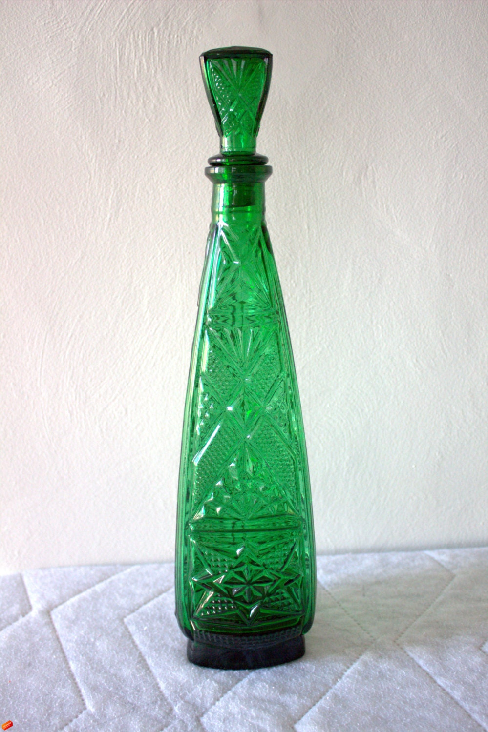 Vintage emerald rossini empoli glass genie by voguevintiques - Vin rossini ...
