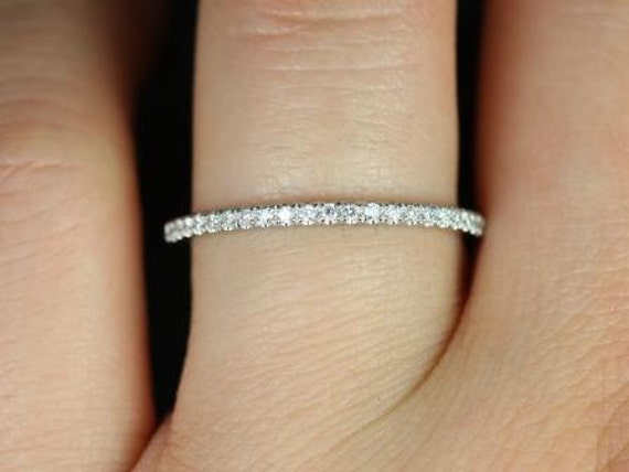 1.5mm HALFWAY Eternity F VS2 0.29ct Petite Micro Pave Diamond