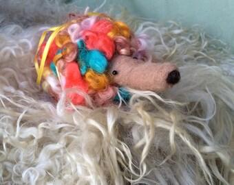 Hedgehog Needle Felted Pincushion