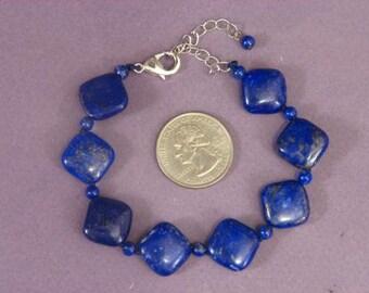 Bracelet Lapis Lazuli 16mm Rhombus BSLL1574