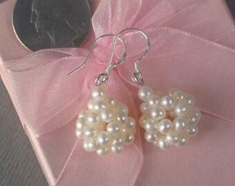 Earrings FW White Pearls Ball Bundle 925 SIlver EHPW0019