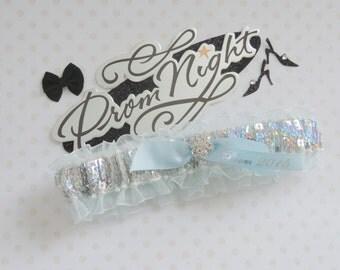 Prom Garters, Light Blue Sequin Prom Garter, Custom Colors Prom Garter, Prom Garter, Wedding  Garters, Prom Garters.