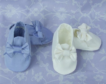 Rufford Babies Christening Booties by Okika made in England