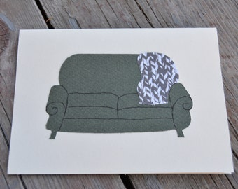 Sofa Greeting Card - BLANK