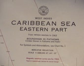 Caribbean Sea ~ West Indies - Eastern Part - Nautical Chart #1800A