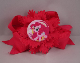 Adorable My Little Pony Pinkie Pie hair ribbon