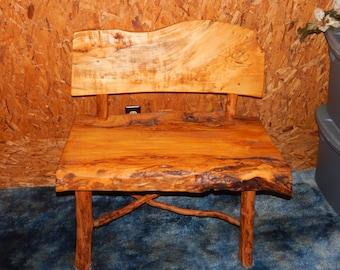 Poplar Wood Solid Back Bench