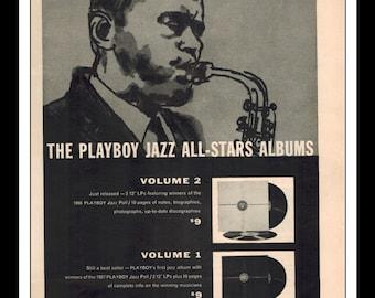 "Vintage Print Ad 1959 : Music - The Playboy Jazz All-Stars Album Wall Art Decor 8.5"" x 11"" Advertisement"