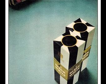 "Vintage Print Ad January 1966 : Black & White Blended Scotch Whisky Wall Art Decor 8.5"" x 11"" Advertisement"