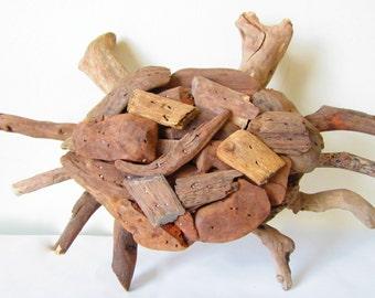 Driftwood Crab Decor-Handmade Driftwood Crab-Crab Made Out Of Driftwood-Crab Home Decor-Driftwood Home Decor-