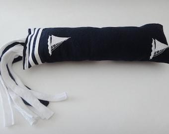 Catnip Kitty Kicker - Sailboats - Upcycled Catnip Toy - Organic Catnip - Catnip Pillow - Kick Stick